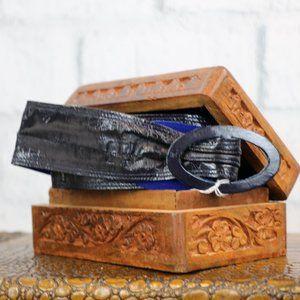 NWT Vintage Eelskin Belt